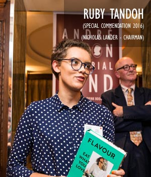 Ruby Tandoh, Special Commendation 2016