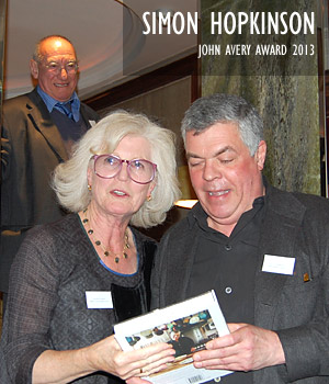 Simon Hopkinson, John Avery Award 2013